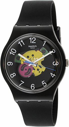 Swatch Originals Patchwork Black Dial Silicone Strap Unisex Watch SUOB140 (Swatch Men Original Strap)