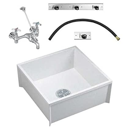 Fiat Mop Sink >> Amazon Com Fiat Products Msbidtg2424100 Mop Sink Kit White 24 In