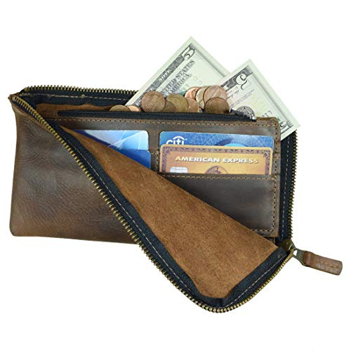 Hide & Drink, Leather Long Zippered Wallet, Holds Up to 8 Cards Plus Coins And Flat Bills, Phone Holder, Cash Organizer…
