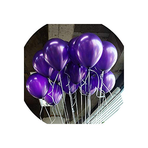 Balloon 100Pcs/50P 8 Inch Pearl Latex Balloon 21 Colors Inflatable Wedding Decorations Air Ball Happy Birthday Party Supplies Balloons,Shen Zi Se,100Pc]()