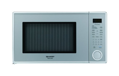 Sharp R-409YV R409 Series 1.3 Cubic Feet 1000-watt Microwave Oven, Family-Size, Pearl Silver