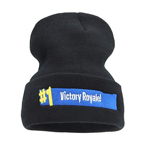 (jerague Men Women Acrylic Knit Watch Cap Winter Beanie Skull Cap Embroidery Cuffed Hat)