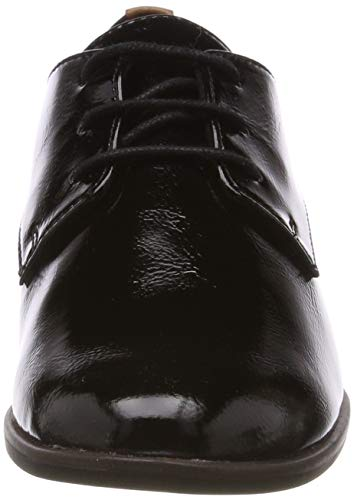 Mujer De 018 black 23220 Para 1 1 22 Cordones Brogue Patent 18 Zapatos Negro Tamaris Yq4vHTw