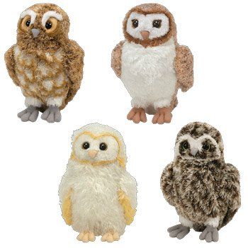 Amazon Com Ty Legend Of The Guardians The Owls Of Gahoole Set Of 4