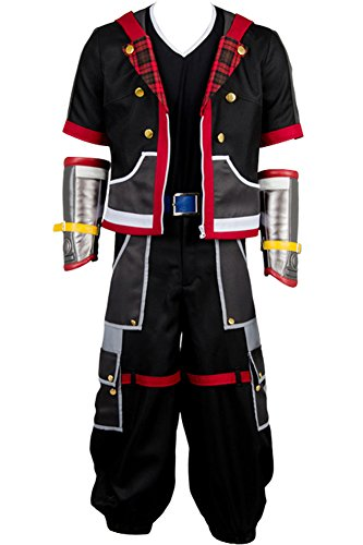 Wecos Halloween Costume Kingdom Hearts III Protagonist Sora Outfit Uniform -