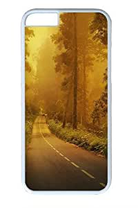 Fog forest road PC For SamSung Note 3 Phone Case Cover White