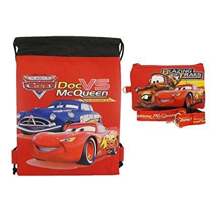 Disney Cars Strings (Disney Car Red Drawstring Bag and Lanyard)
