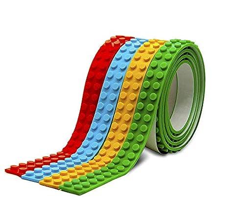 Ekana Mart Lego Tape Multicolor Pack Of Reusable Self Adhesive