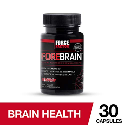 Forebrain Cognitive Performance Nootropic with COGNIGRAPE & Thinkamine - Improve Memory, Focus, Clarity, Mental Energy, Force Factor, 30ct.