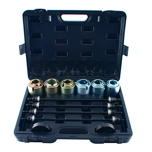 8MILELAKE 26pc Universal Press and Pull Sleeve Kit for The Removal and Installation of Bushes Bearings and Seals