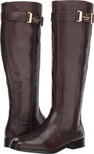 Kate Spade New York Women's Ronnie Equestrian Boot, Dark Chocolate Soft Calf, 11 M US ()