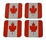 Canada Flag Drink Coaster Set Gift For Canadians