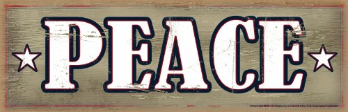 - Advanced Graphics Wood Sign, Peace