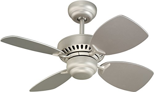 Colony Ii 28-Inch 4-Blade Ceiling Fan With Silver Blades