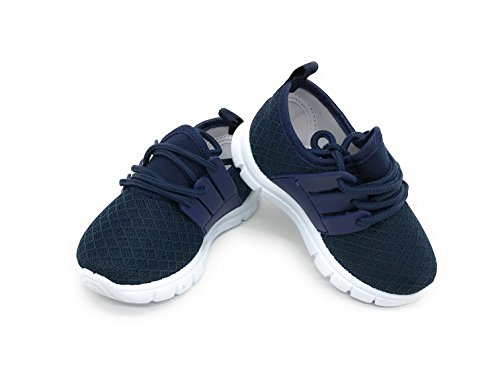 Blue Berry EASY21 Baby Toddler Boys and Girls Breathable Fashion Sneakers,Navy502,Size 7