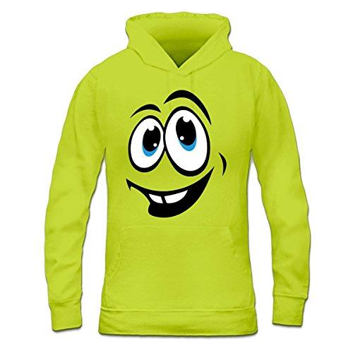 Sudadera con capucha de mujer Happy Face by Shirtcity verde limón