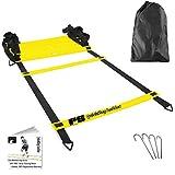 Premium Soccer Training Agility Ladder + $497 in FREE Bonuses - -FREE carrying bag - Durable flat rung soccer training equipment - MLS Soccer Player Endorsed!