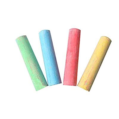 Pack of 15 Sidewalk Chalk for Kids Toddlers, Cnebo Colorful Washable Sidewalk Chalk for Outdoor Side Walk Easter Basket Stuffers: Sports & Outdoors