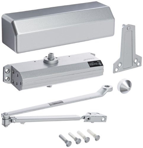 Hager 5300 Series Aluminum Grade 1 Heavy Duty Surface Door Closer, Multi-Mount, 1-6 Adjustable Spring Size, Sprayed Aluminum Finish