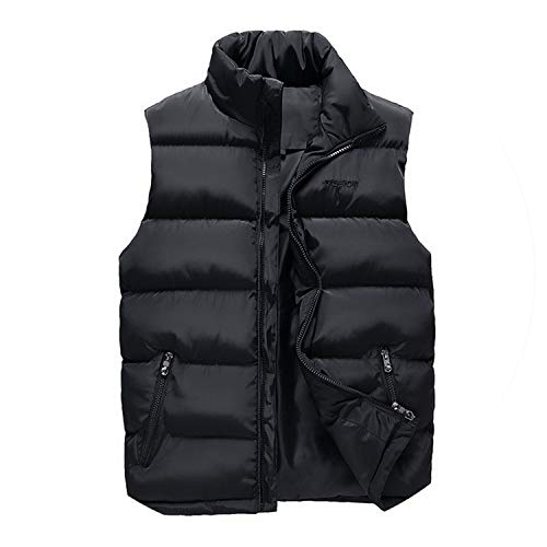 KEBINAI Men Winter Warm Vests Male with Many Pockets Casual