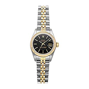 Best Epic Trends 41gBsnp0LDL._SS300_ Rolex Datejust Mechanical (Automatic) Black Dial Womens Watch 69173 (Certified Pre-Owned)