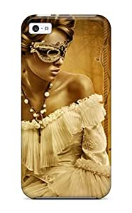 Brand New 5c Defender Case For Iphone (woman Mystery Masquerade)