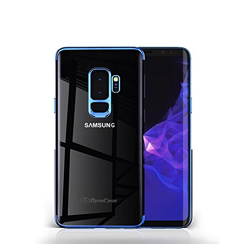 DynoCase Samsung Galaxy S9 Plus Case, [Revelo] Ultra Slim Light Weight Clear TPU Back Luxury Style (Blue)