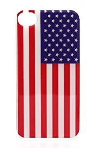USA Flag American - iPhone 5s Snap On Case Clear Plastic navy marine stars red