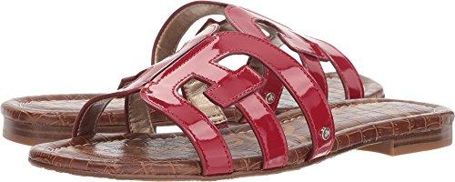Sandals Patent Red (Sam Edelman Women's Bay Slide Sandal, deep red Patent, 10 M US)
