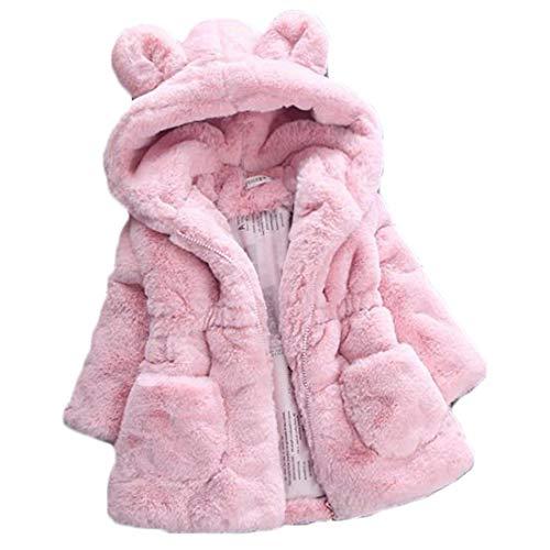 Huicai Abrigo de algodón para niñas, niños de piel sintética abrigo de solapa de lana abrigo de invierno cálido chaqueta...