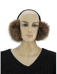 Women's Fox Fur Earmuff-Brown