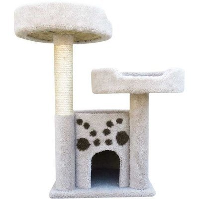 New Cat Condos Premier Double Perch Solid Wood Cat Condo, Blue by New Cat Condos