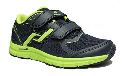 Pro Touch Zapatillas de Run oz Pro V Velcro Jr–Gris/Amarillo Neón