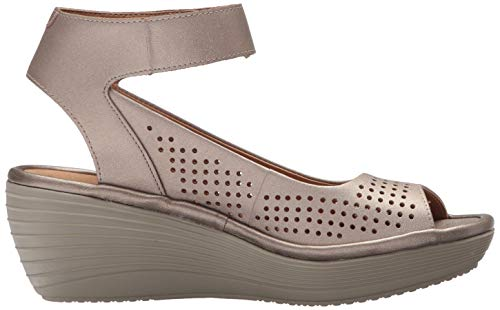d65eac16cff Clarks Women s Reedly Salene Pewter Leather 12 D US  Amazon.co.uk  Shoes    Bags