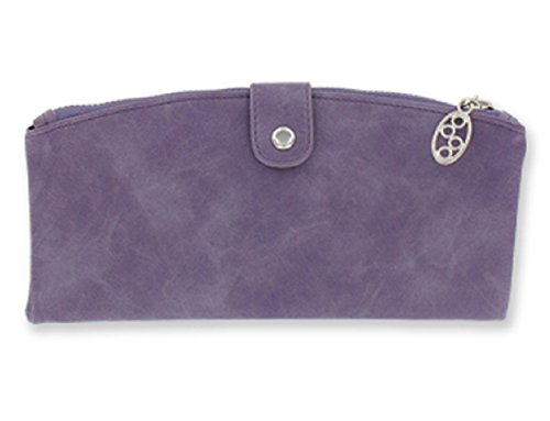 Metropolitan Ultimate Classic Wallet, Dusty Purple/Black, 4.25