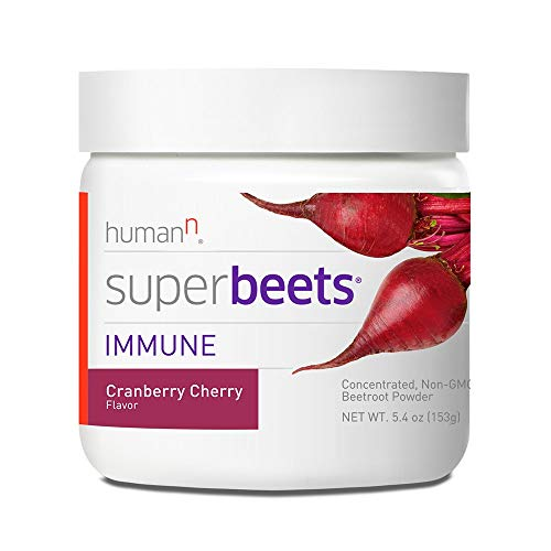 (HumanN SuperBeets Immune Concentrated Non-GMO Beetroot Immune System Supporting Supplement (Cranberry Cherry, 5.4-Ounce))