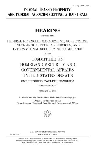 Federal Leased Property    Are Federal Agencies Getting A Bad Deal