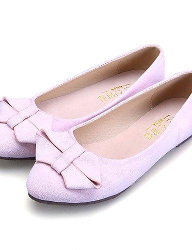 Toe uk6 casual de plano pink 5 mujer vestido zapatos azul señaló eu39 cerrado de ante us8 Toe negro comodidad rosa Flats Burgundy cn40 talón PDX 5 Pwgd6qg