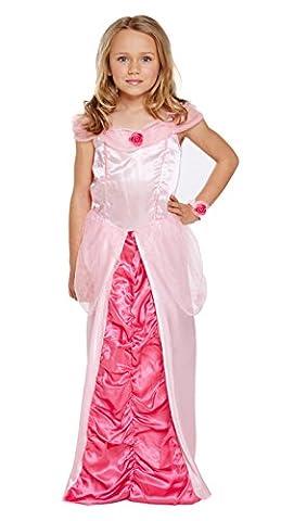 Girls Sleeping Princess Costume for Childs Aurora Fairytale Fancy Dress Outfit medium age 7-9 by Partypackage (Fairies Von Dornröschen Kostüme)