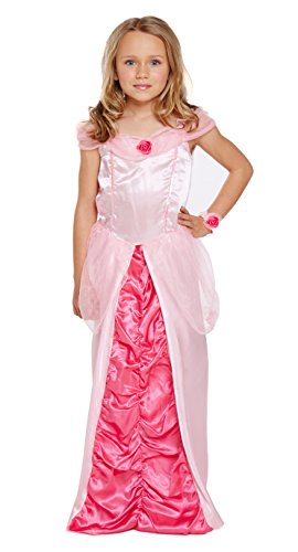 [Girls Sleeping Princess Costume for Childs Aurora Fairytale Fancy Dress Outfit medium age 7-9 by Partypackage] (Swan Princess Costume)