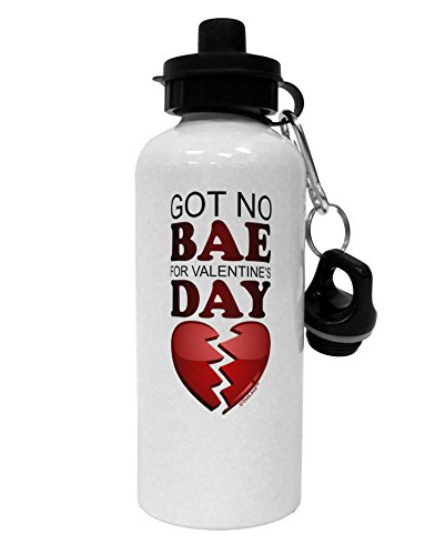 TooLoud No Bae for Valentine's Day Aluminum 600ml Water Bottle - White