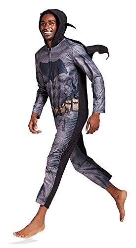 Briefly Stated Men's Batman vs. Superman Dawn of Justice Union Suit with Cape Adult (M, Batman) ()