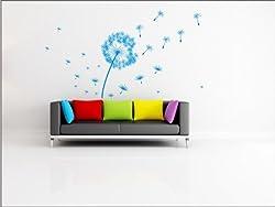 N1113 Dandelion Wall Sticker - L-110 (20,5 in.)/ H -52 sm.(42 in.) - Wall diy graphics decor, wall decoration wallpaper, art vinyl stickers, wall tattoo