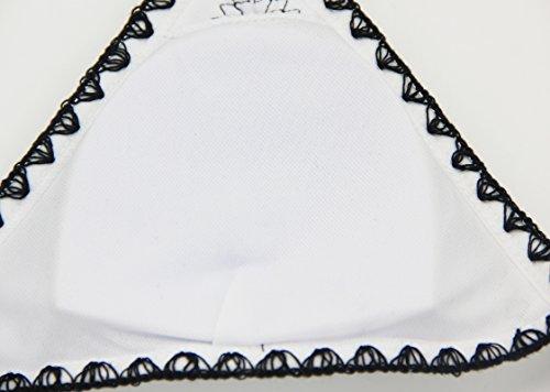 floravogue 2016mujeres Halter Crochet neopreno triángulo bikini Set dos piezas bañadores blanco