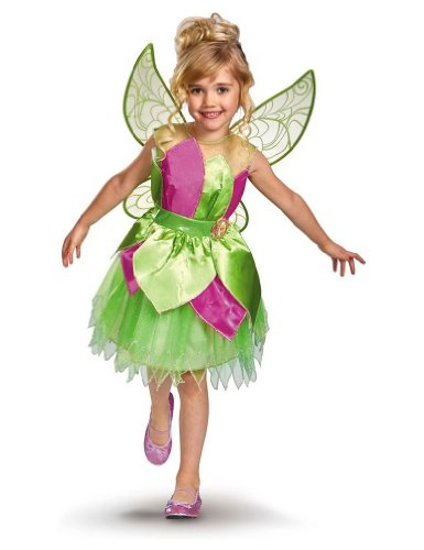 Tinker Bell Deluxe Costumes - Tinker Bell Deluxe Costume - X-Small