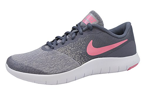 NIKE Girl's Flex Contact (GS) Running Shoe Light Carbon/Sunset Pulse Size 7 M US
