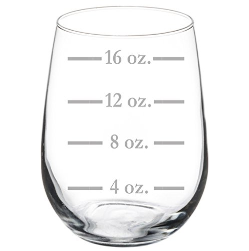 Wine Glass Goblet Measuring Cup Ounces (17 oz ()