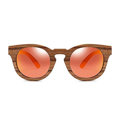 de hommes yeux lunettes soleil pour soleil lunettes unisexe polarisées soleil lunettes Classique cadre de lunettes en de lunettes femmes bois chat de Orange soleil soleil de Rétro protection les conduite UV 7tnwvqft