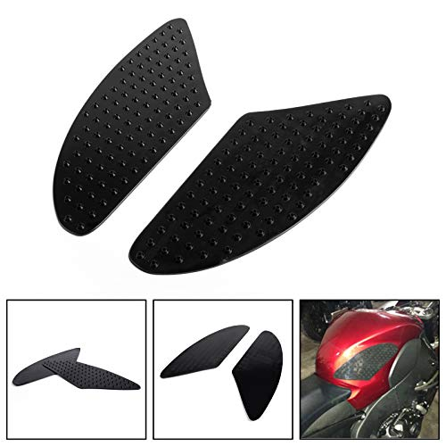 Areyourshop Tank Traction Pad Side Gas Knee Grip Protector For Honda CBR 600 1000 RR CB400 Black