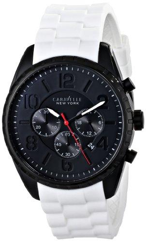Caravelle New York by Bulova Men's 45B121 Analog Display Japanese Quartz White Watch